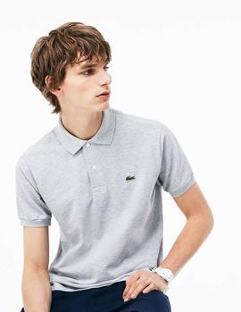 POLO LACOSTE CLASSIC FIT GRIS JASPEADO