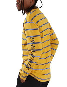 CAMISETA PLEASURES SCREAM STRIPED LS