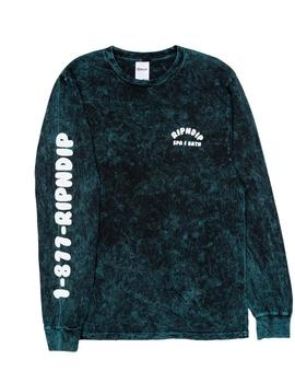 CAMISETA RIPNDIP SPA DAY L/S HUNTER MINERAL WASH