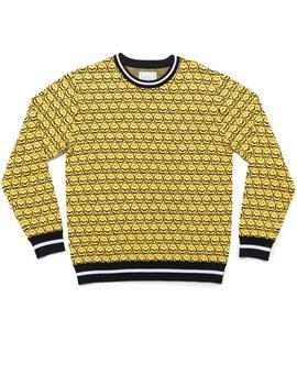 JERSEY THE QUIET LIFE SMILEY SWEATER YELLOW